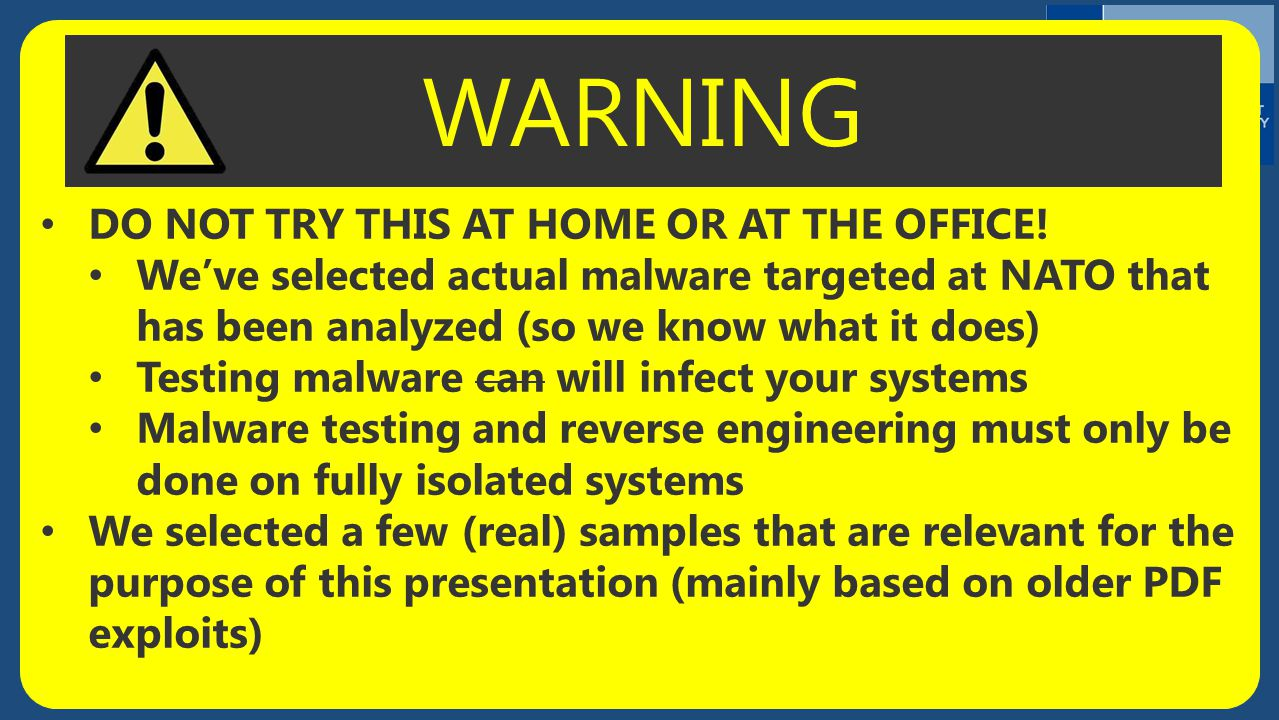 WARNING DO NOT TRY THIS AT HOME OR AT THE OFFICE!