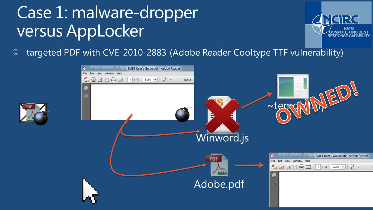 Case 1: malware-dropper versus AppLocker