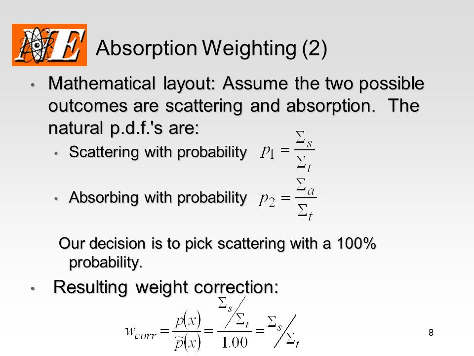 Absorption Weighting (2)