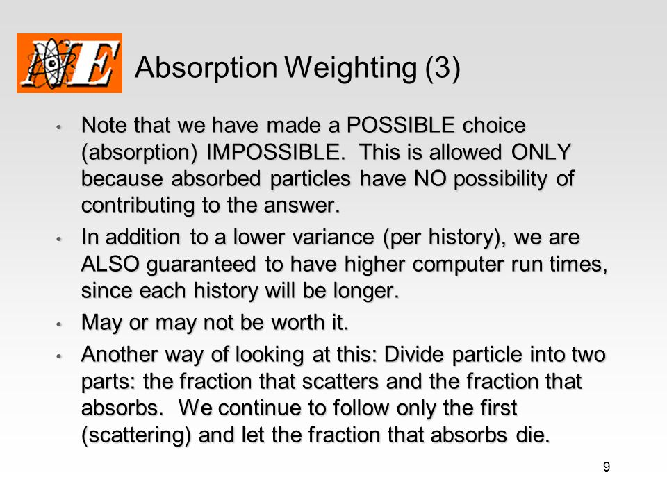 Absorption Weighting (3)