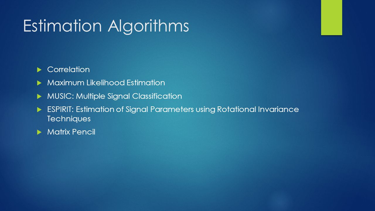 Estimation Algorithms