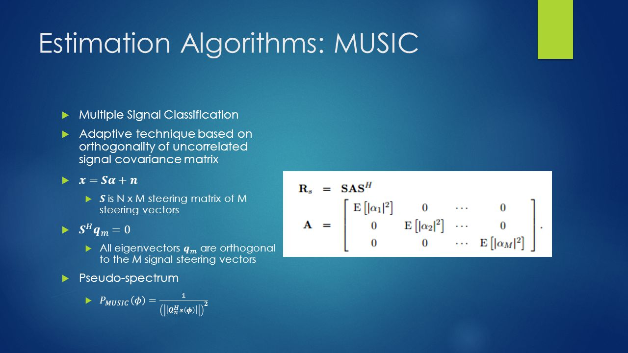 Estimation Algorithms: MUSIC