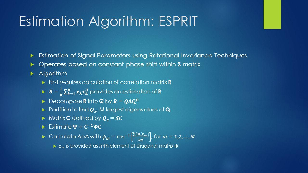 Estimation Algorithm: ESPRIT