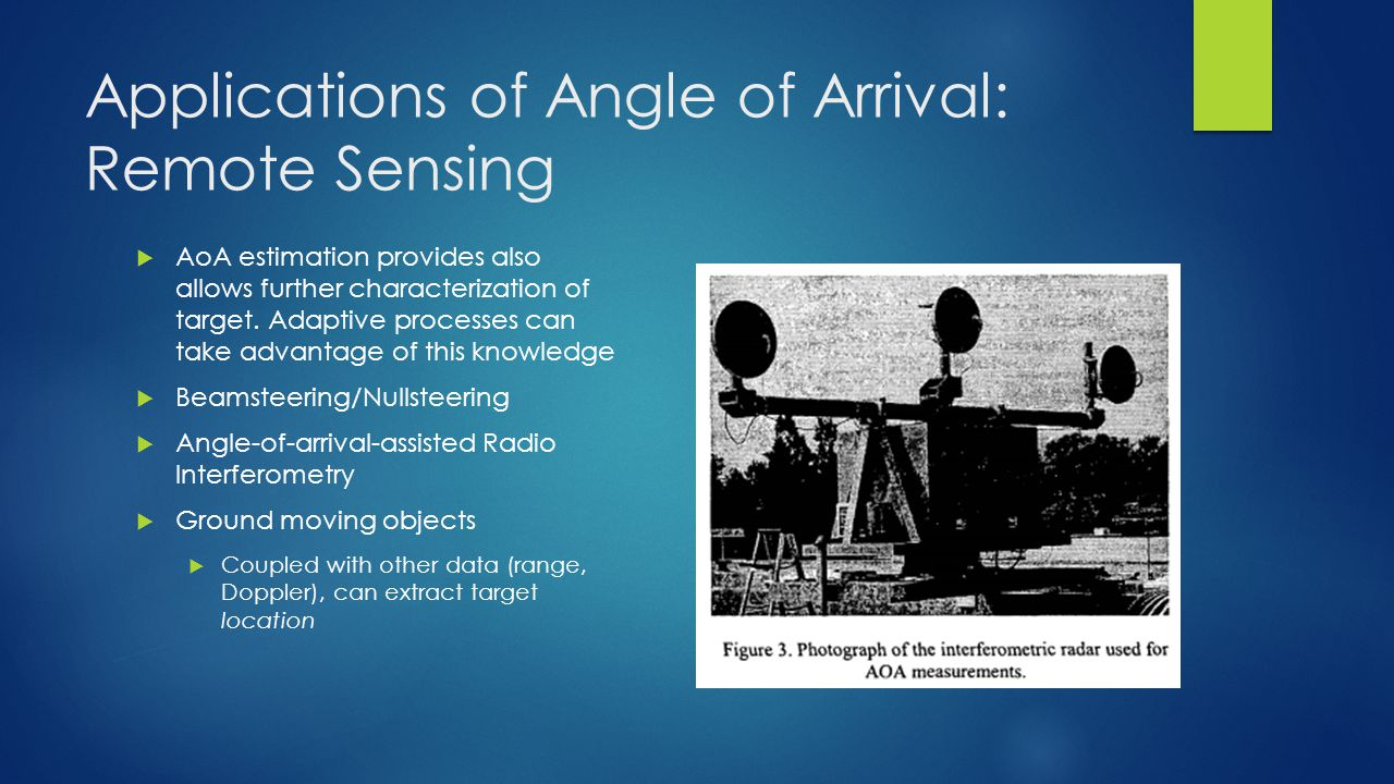 Applications of Angle of Arrival: Remote Sensing