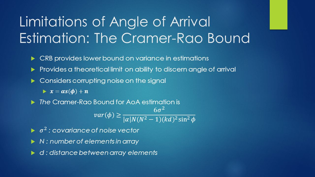 Limitations of Angle of Arrival Estimation: The Cramer-Rao Bound