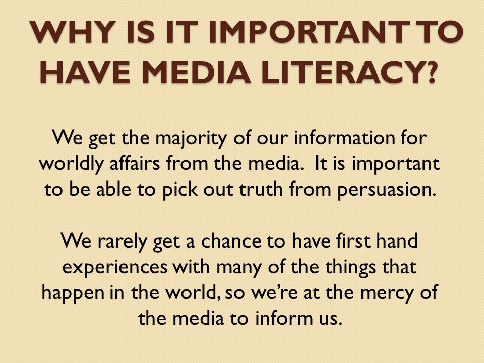 The importance of media in providing news and information worldwide