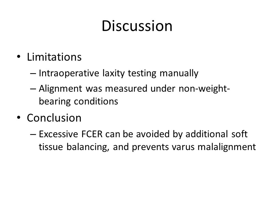 Discussion Limitations Conclusion
