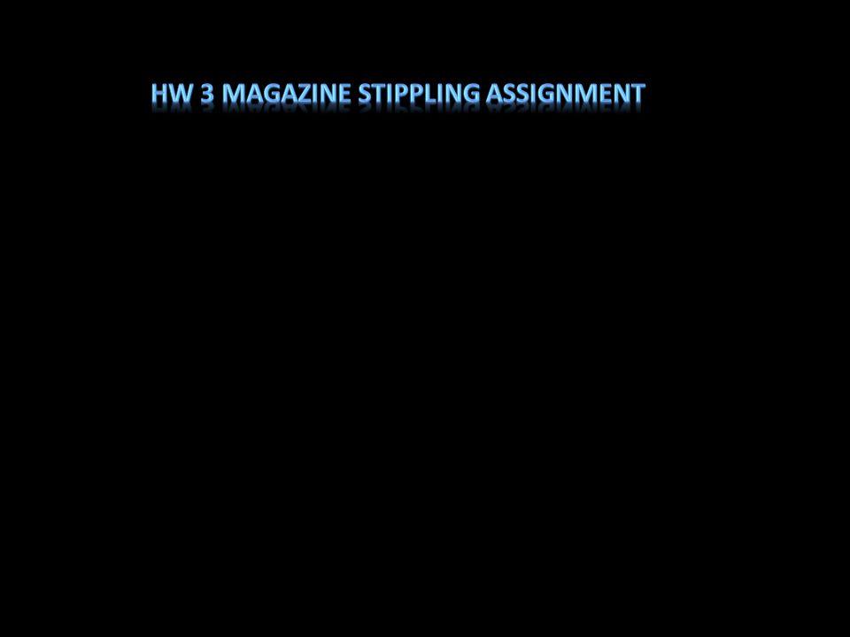 HW 3 Magazine Stippling Assignment