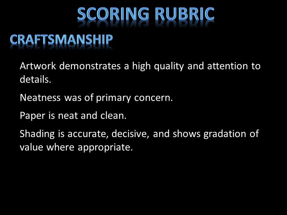 Scoring Rubric Craftsmanship