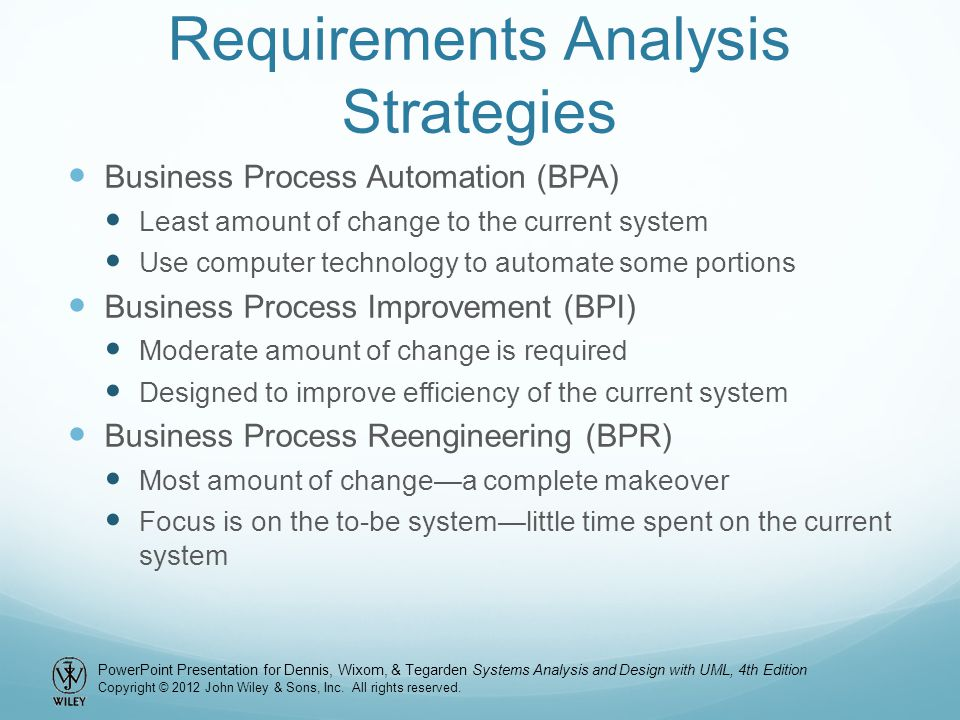 Requirements Analysis Strategies