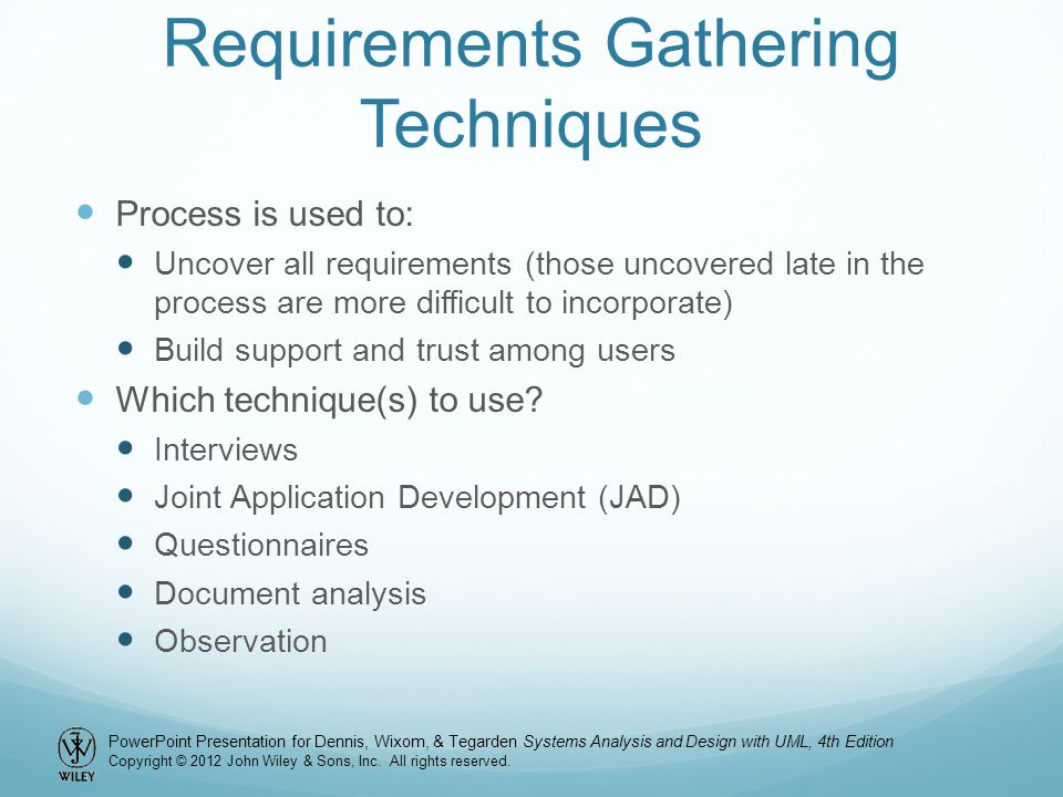 Requirements Gathering Techniques