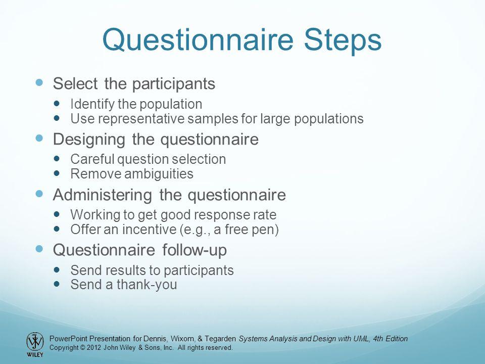 Chapter 3 requirements determination ppt video online download 23 questionnaire toneelgroepblik Gallery