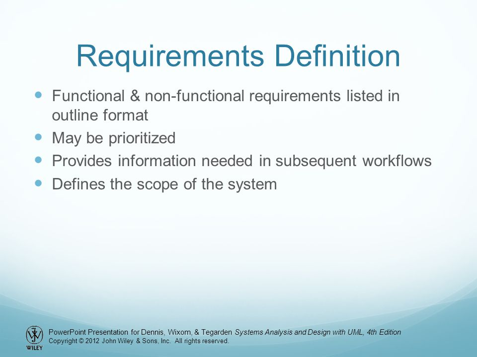 Requirements Definition