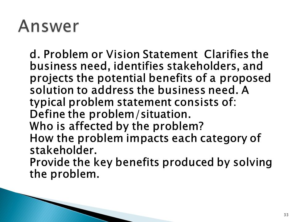 Situation Analysis and Problem Statement
