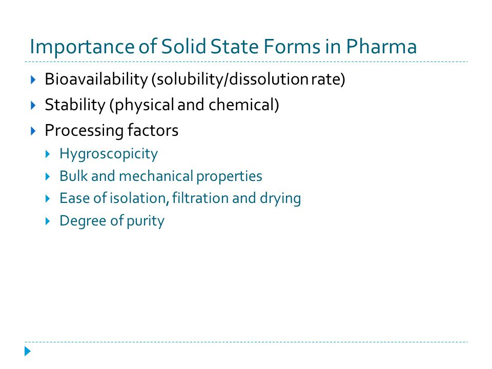 Importance of Solid State Forms in Pharma