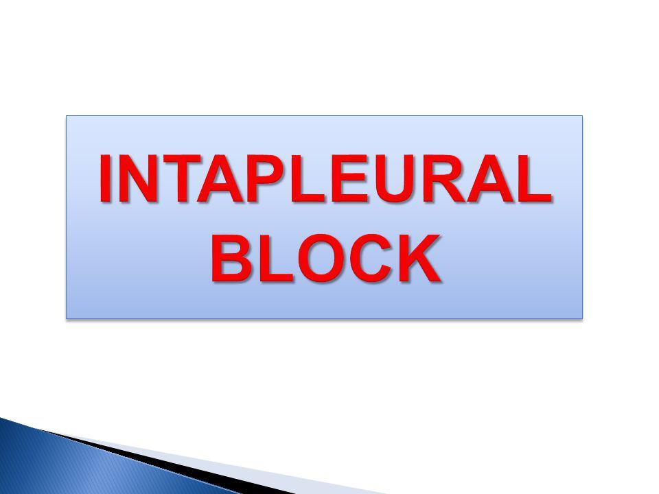 INTAPLEURAL BLOCK