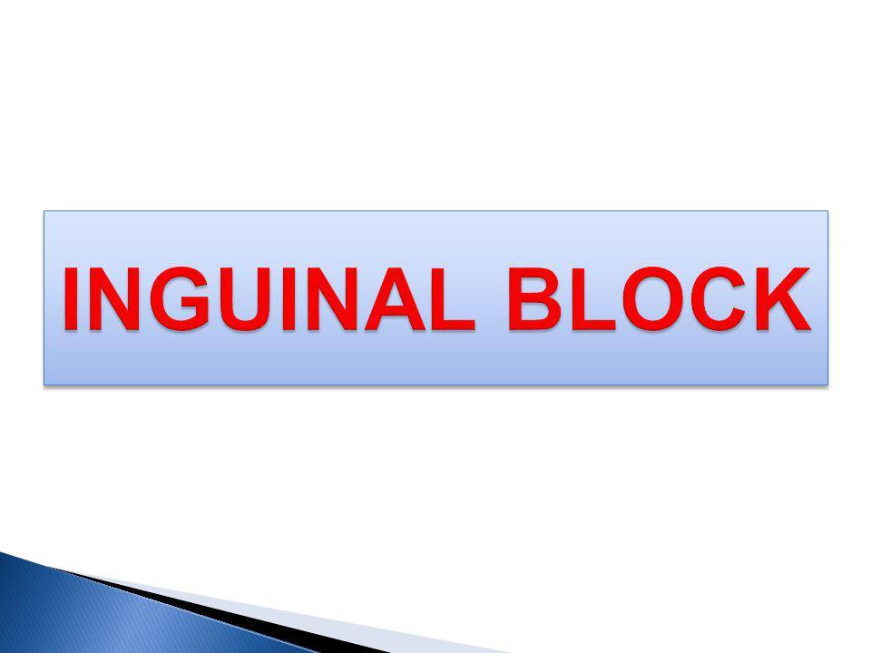 INGUINAL BLOCK