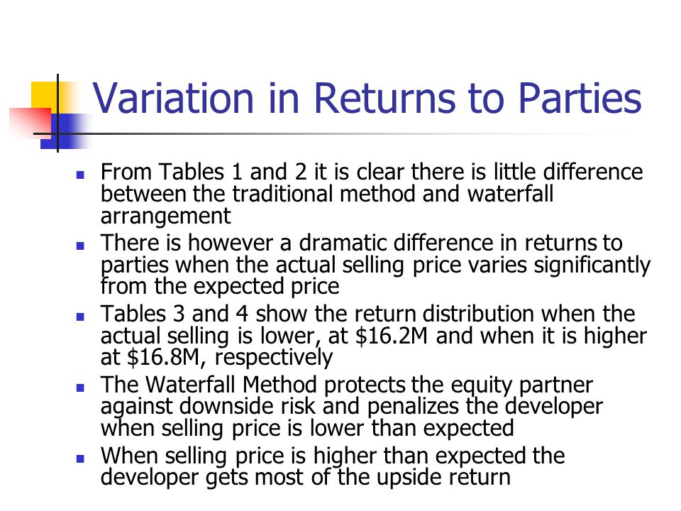 Variation in Returns to Parties