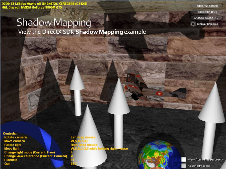 Shadow Mapping View the DirectX SDK Shadow Mapping example