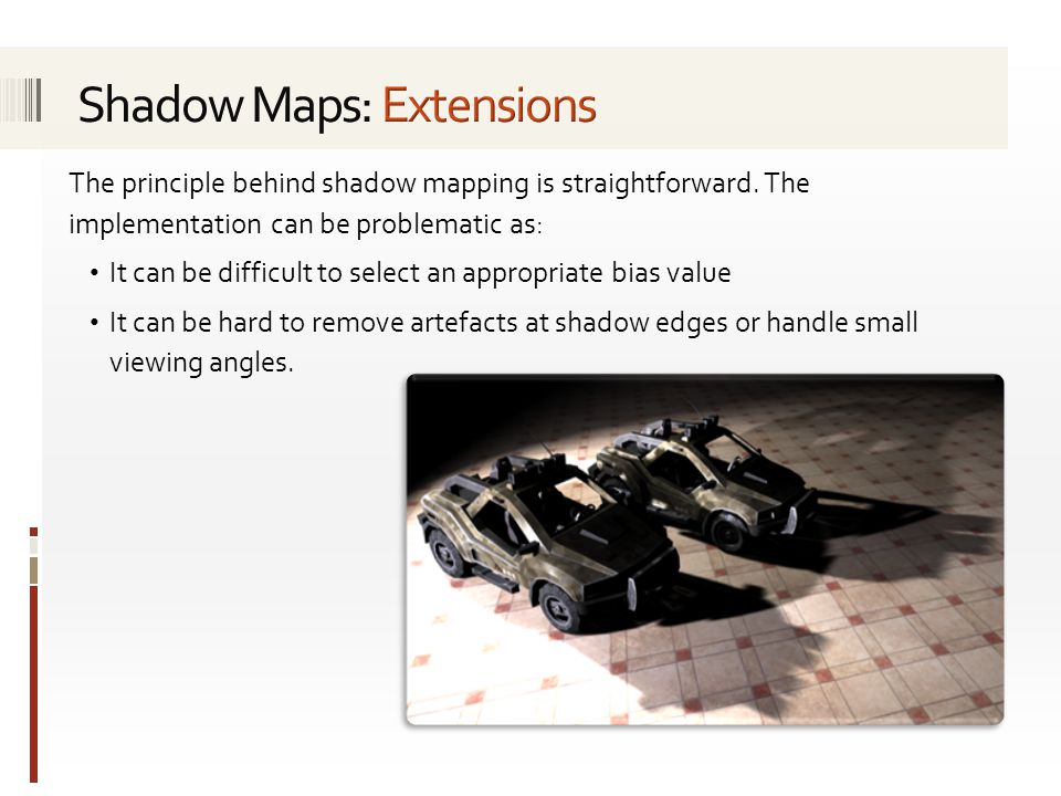 Shadow Maps: Extensions