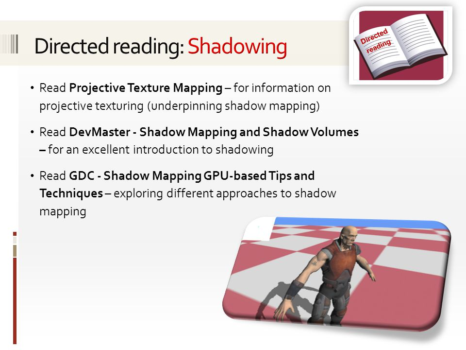 Directed reading: Shadowing