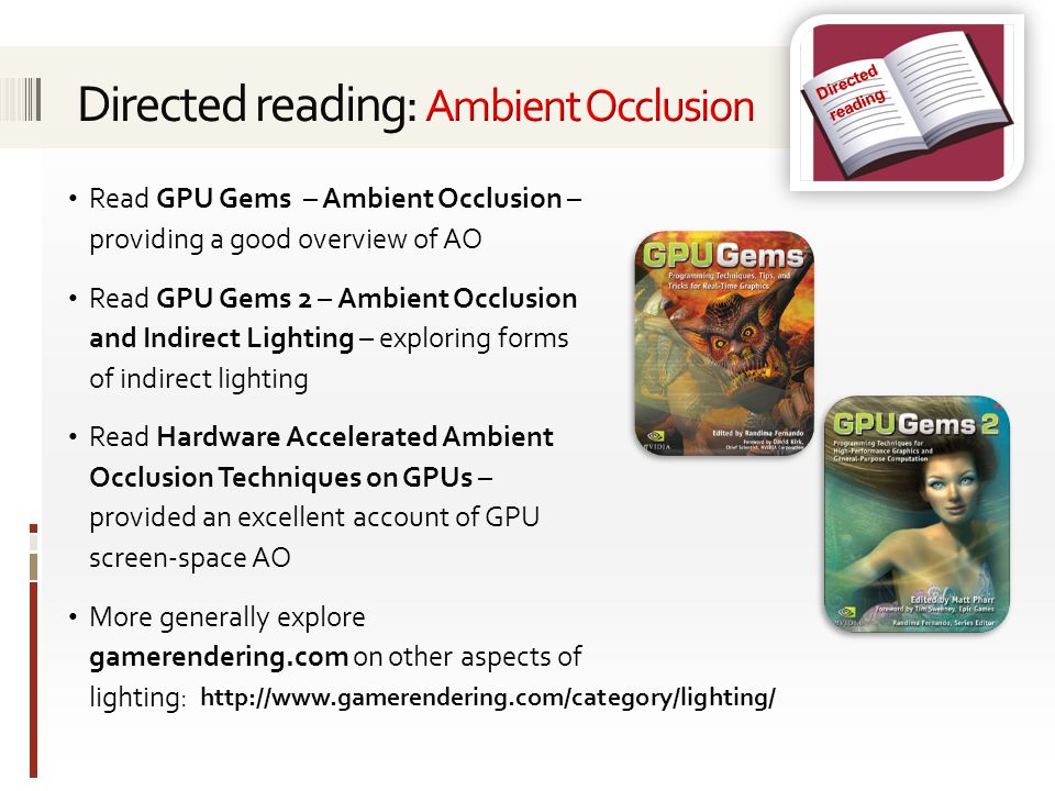 Directed reading: Ambient Occlusion