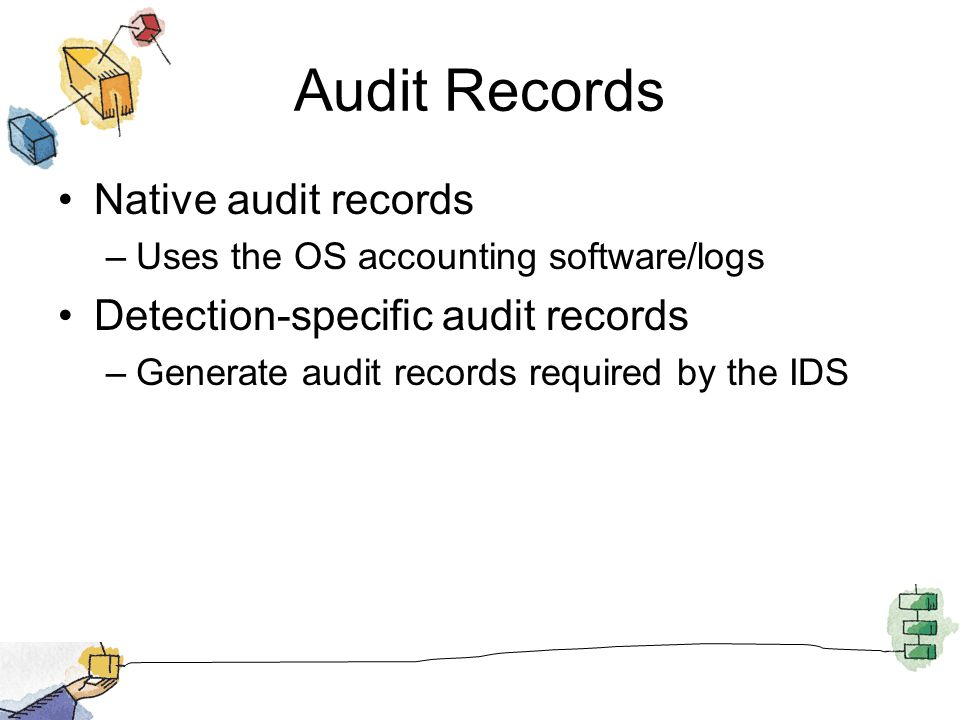 Audit Records Native audit records Detection-specific audit records