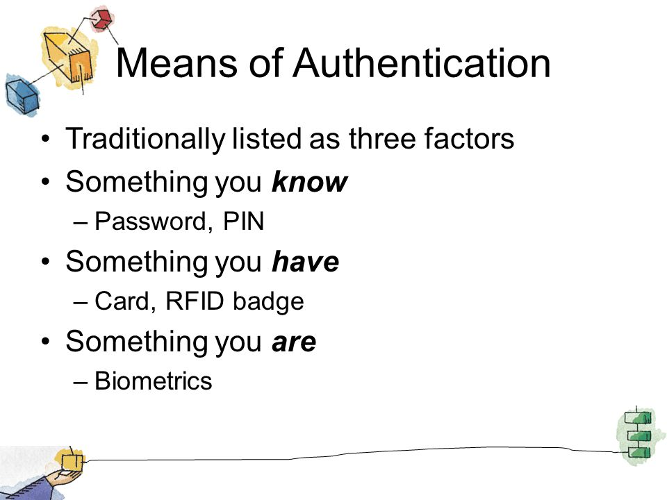 Means of Authentication