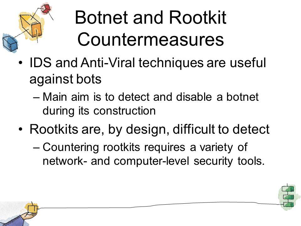 Botnet and Rootkit Countermeasures