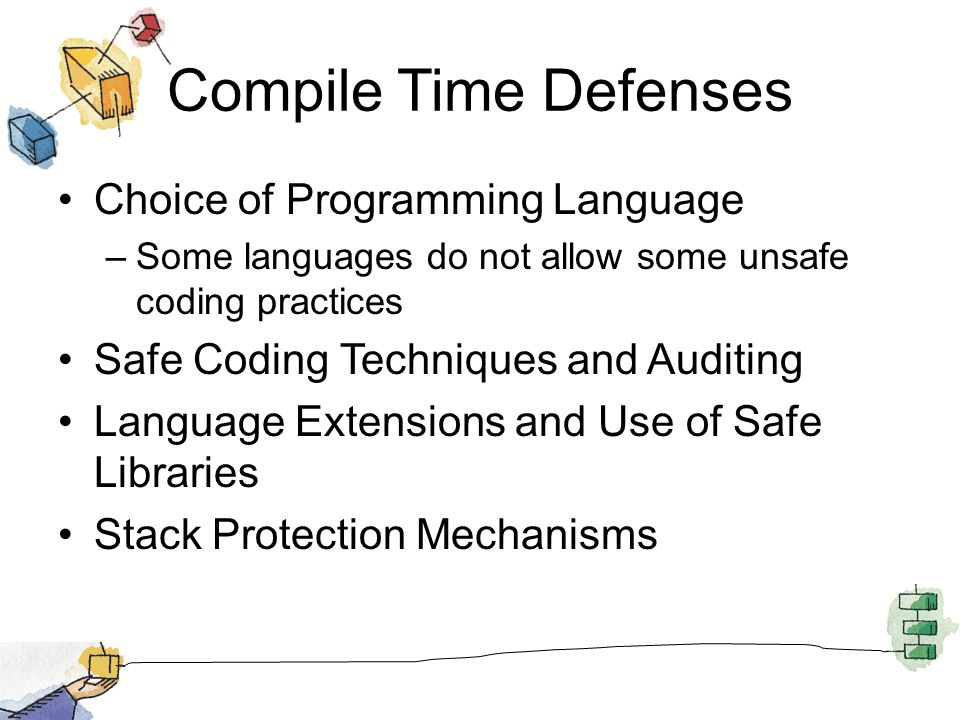 Compile Time Defenses Choice of Programming Language
