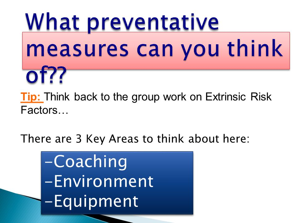 What preventative measures can you think of