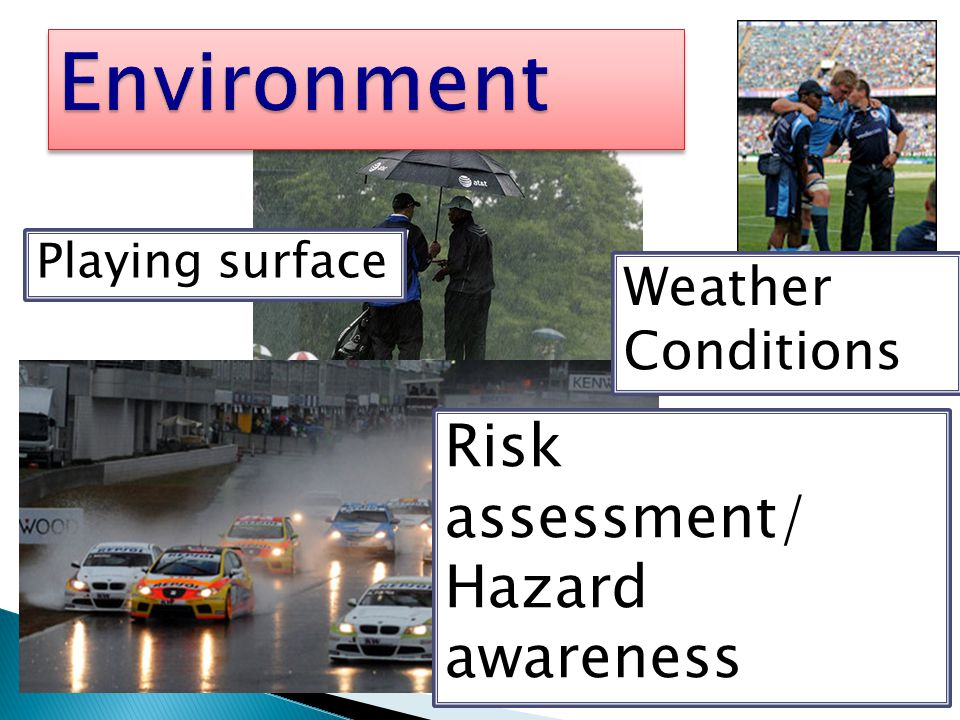 Environment Risk assessment/ Hazard awareness Weather Conditions