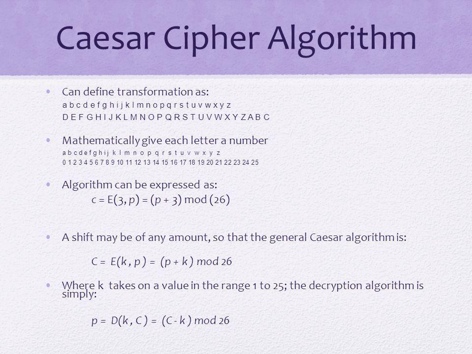 Caesar Cipher Algorithm