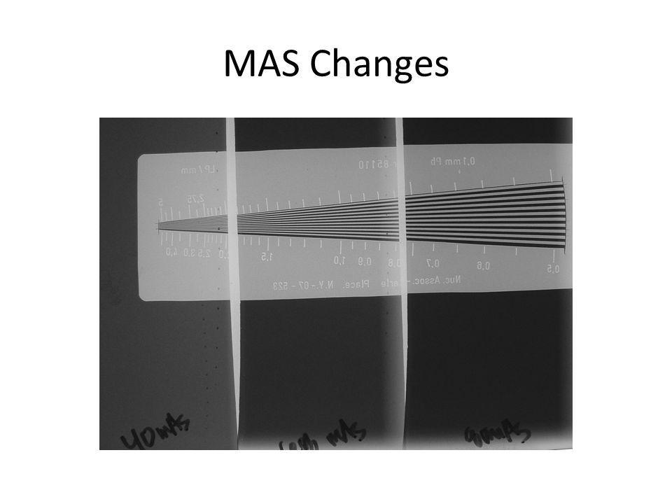 MAS Changes