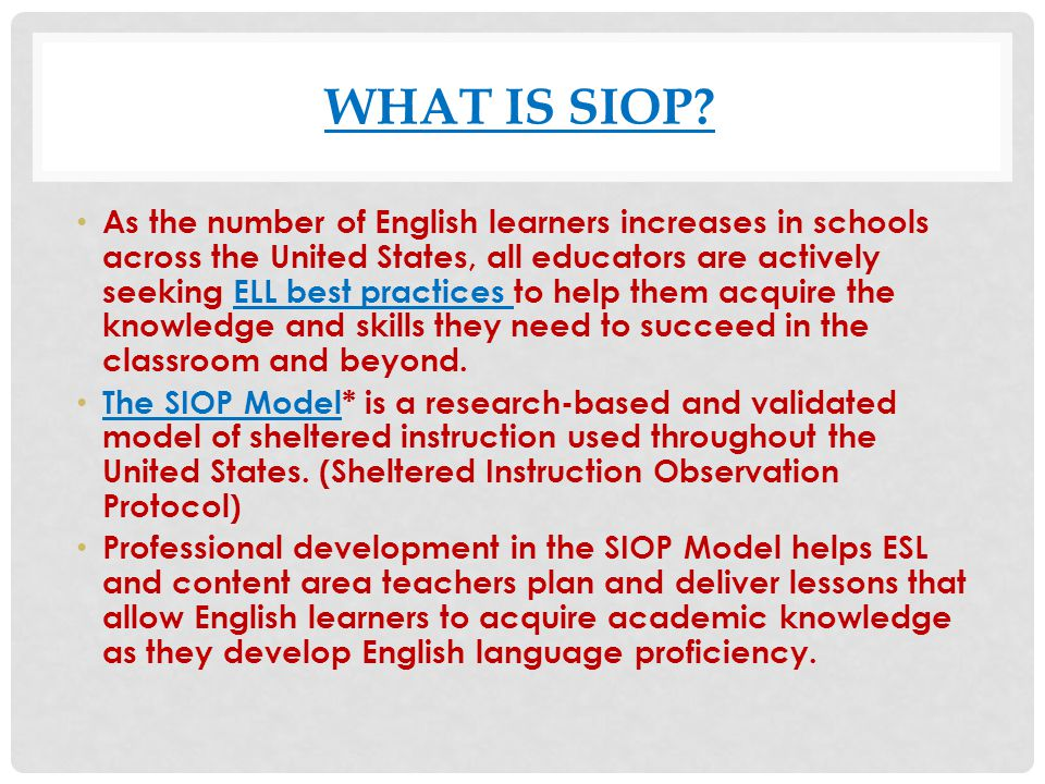 What is Siop
