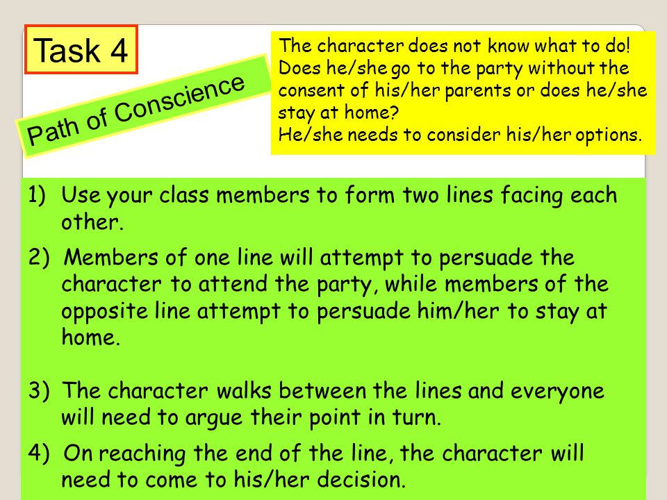 Task 4 Path of Conscience
