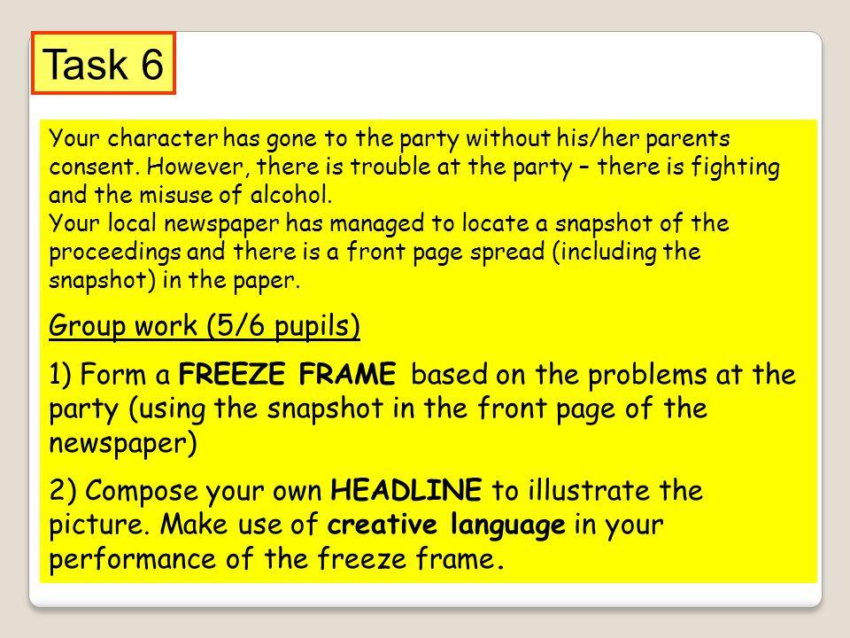 Task 6 Group work (5/6 pupils)