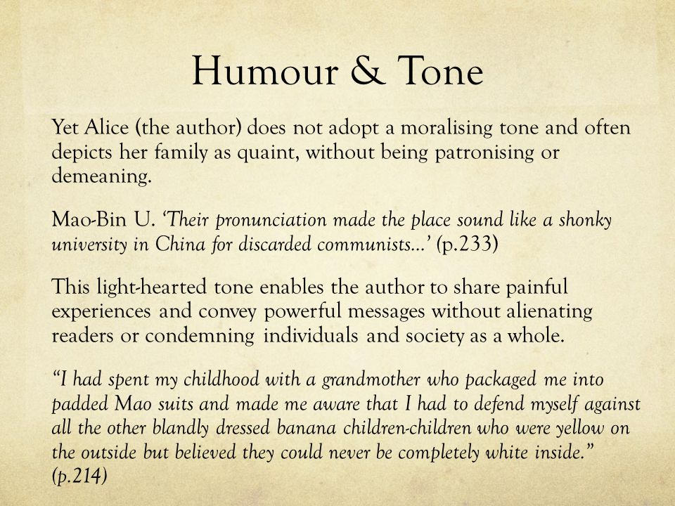 Humour & Tone