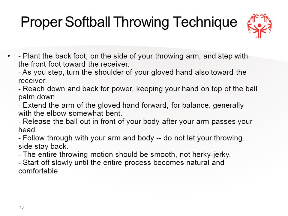 Proper Softball Throwing Technique