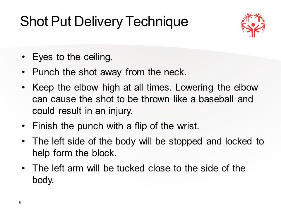 Shot Put Delivery Technique