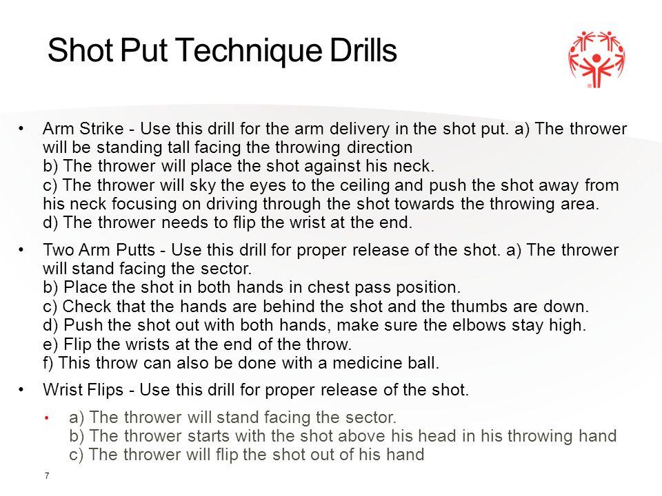 Shot Put Technique Drills