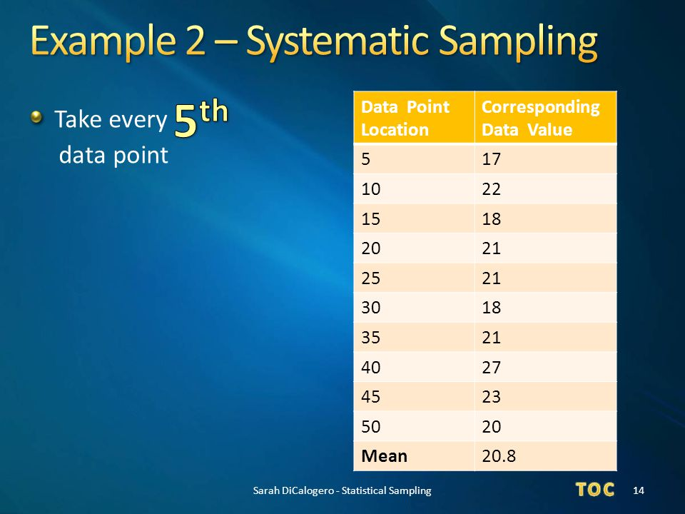 Example 2 – Systematic Sampling