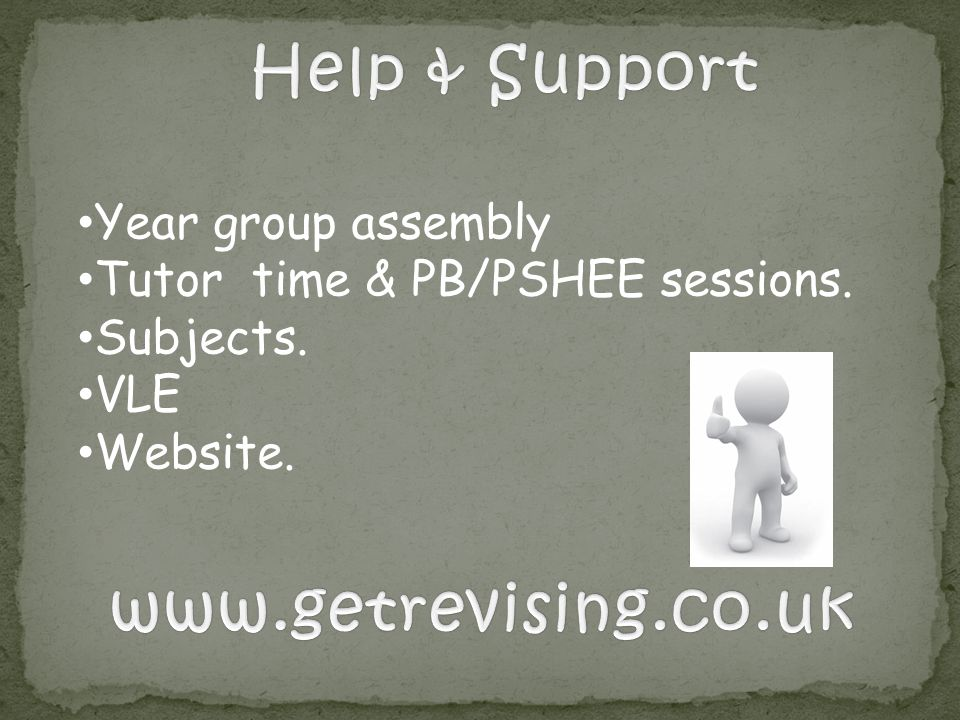 Help & Support www.getrevising.co.uk