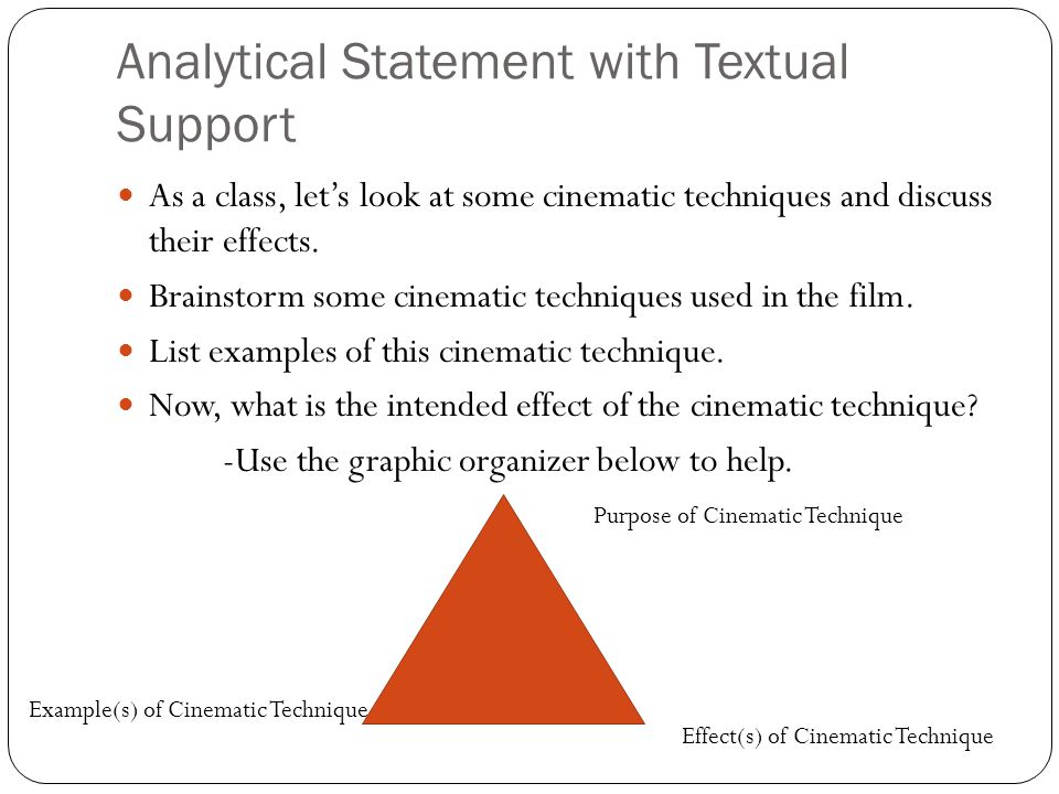Analytical Statement with Textual Support