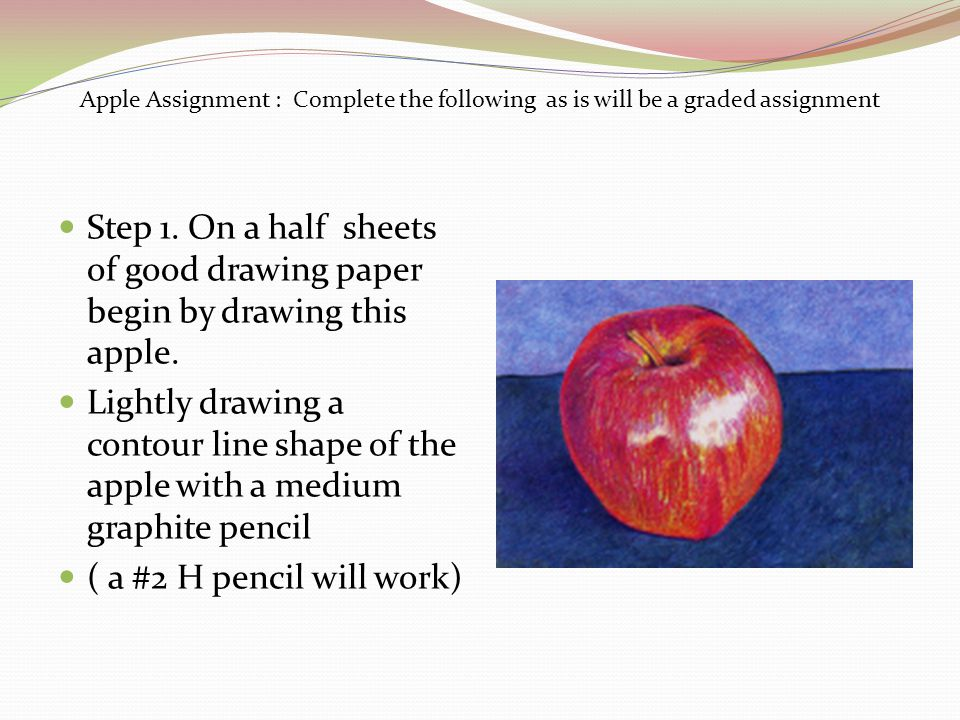 Apple Assignment : Complete the following as is will be a graded assignment