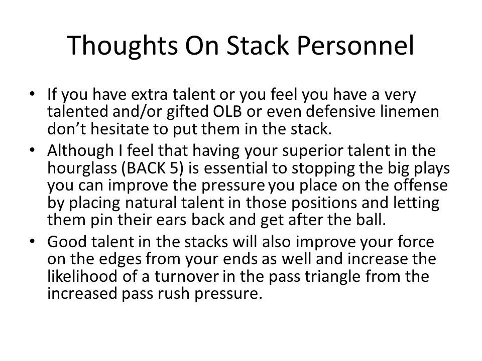 Thoughts On Stack Personnel