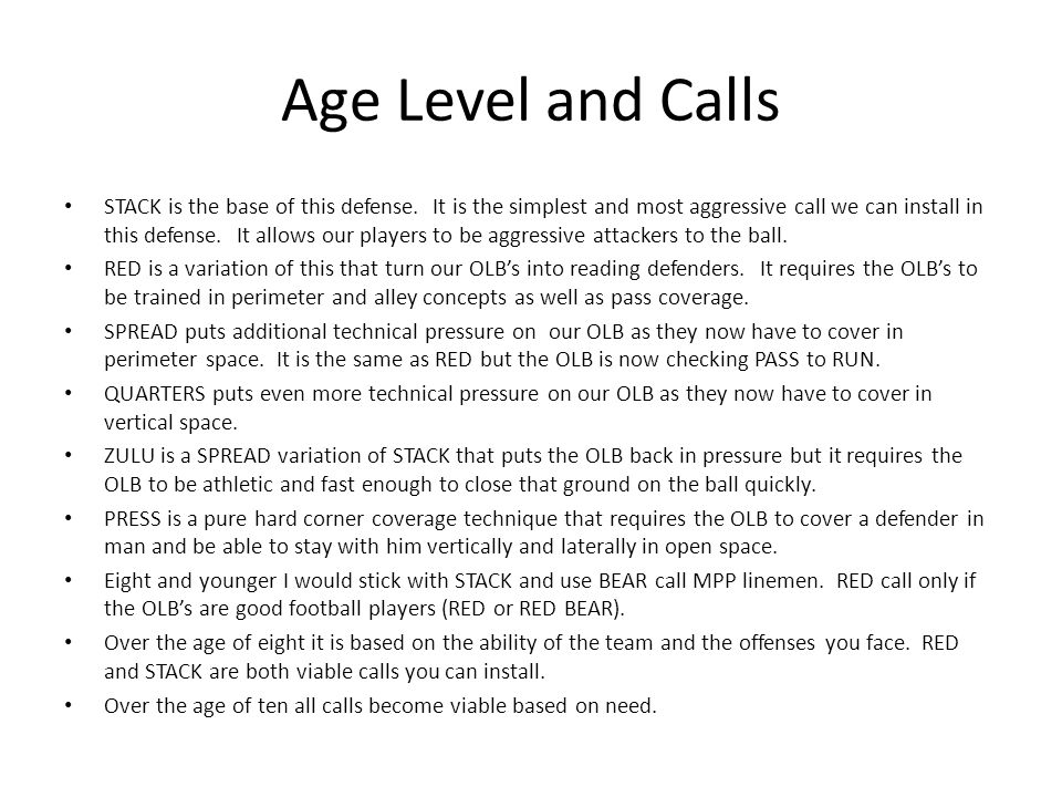 Age Level and Calls