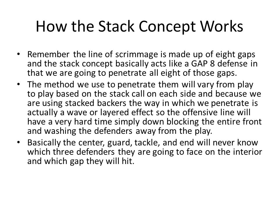How the Stack Concept Works