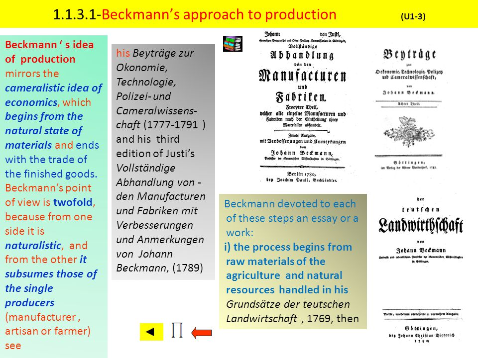 1.1.3.1-Beckmann's approach to production (U1-3)