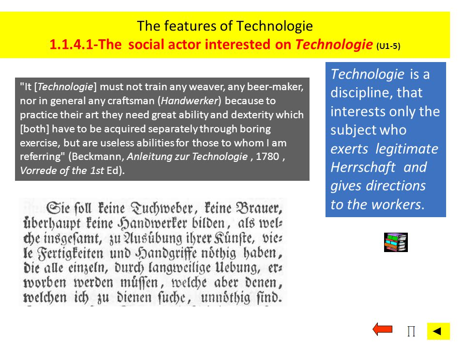 The features of Technologie 1. 1. 4